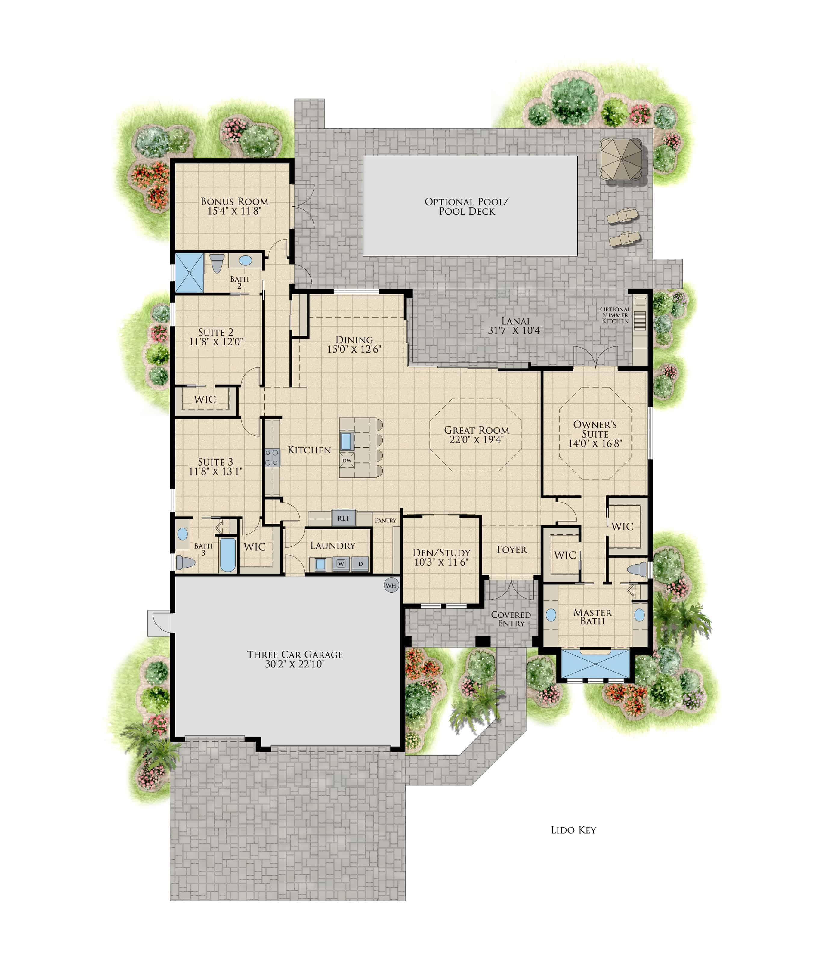 Lido Key Model Floor Plan